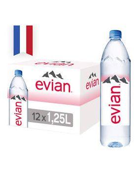 Evian Natural Spring Water (12 bottles x 1.25L)