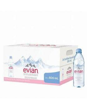 Evian Natural Mineral Water (24 bottles x 500ml)