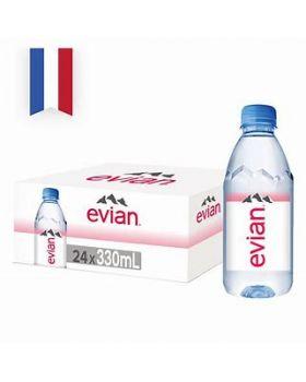 Evian Natural Spring Water (24 bottles x 330ml)